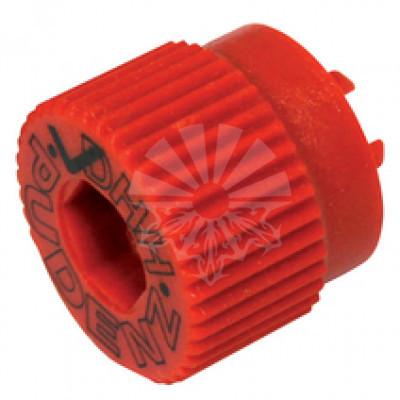 Изолирующая гайка М8 красная с фиксатором