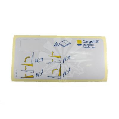 Наклейка для пульта управления BAR Cargolift S2 / S4 / SX1