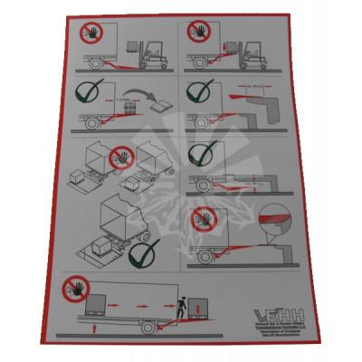 Наклейка - инструкция по эксплуатации гидроборта