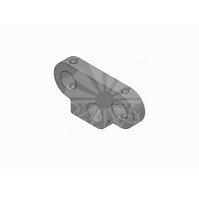 Пластина наружная для пружины сгиба платформы Ø16 / Ø16 x 12